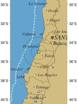 Imagen del sismo