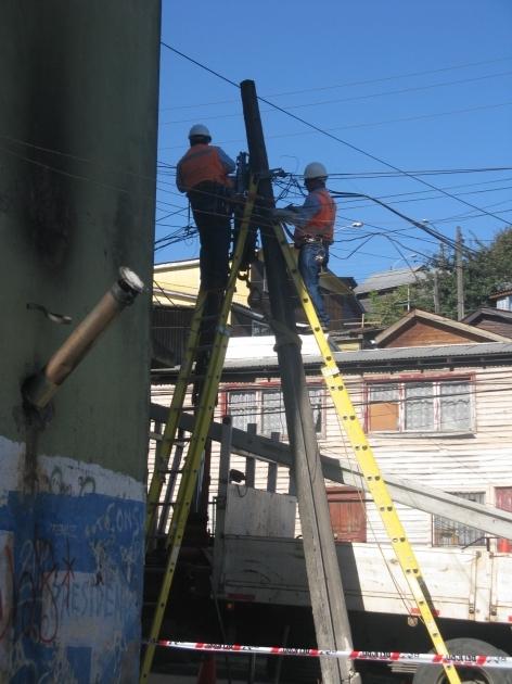 Cambio poste MOVISTAR | Nelson Vergara