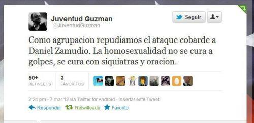 Mensaje de la supuesta juventud Jaime Guzmán