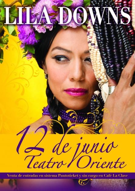 Lila Downs en Chile | Comunicado de Prensa