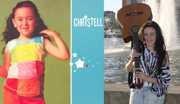 Christell cuando pequeña y en la actualidad