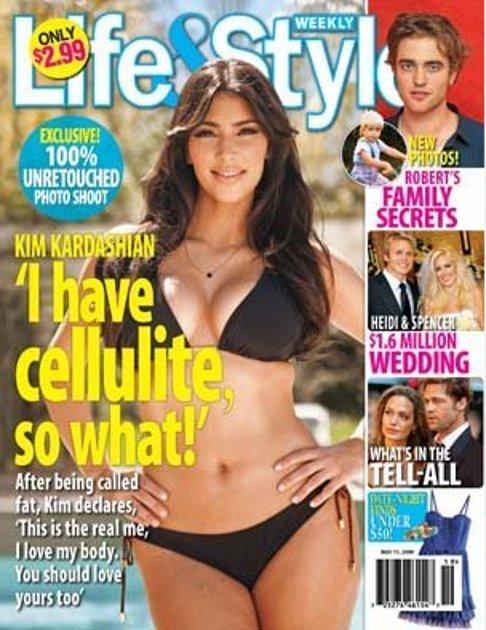 Kim Kardashian en revista Life & Style