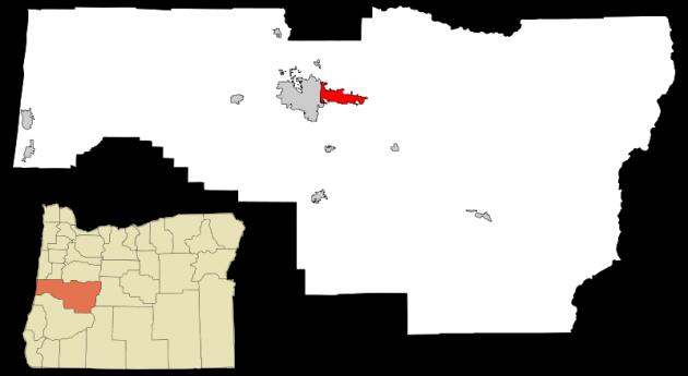Mapa de Springfield, Oregón | Wikipedia