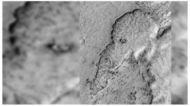 """NASA descubre un """"elefante"""" en la superficie de Marte"""
