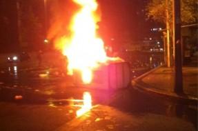 Imagen:Caseta quemada | Juan Miranda (Twitter)