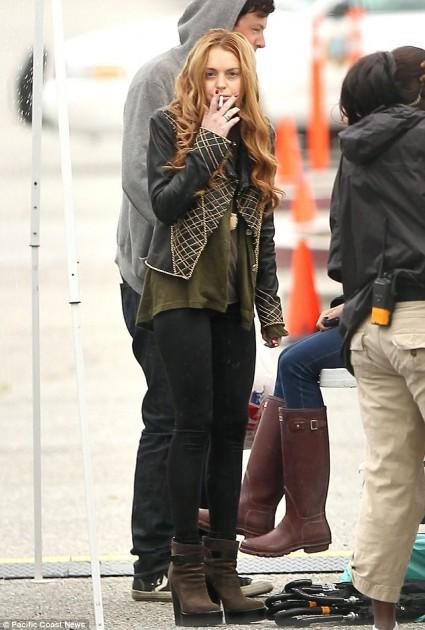 Lindsay en el set de Glee | Pacific Cost News