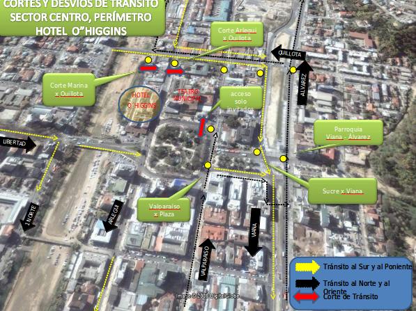 Desvíos en Valparaíso