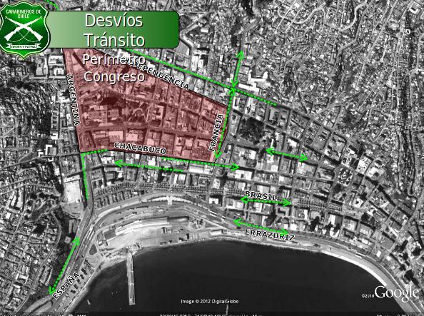 Desvíos en el Congreso en Valparaíso