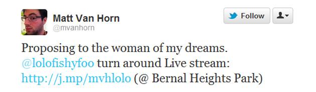El tweet de Matt Van Horn
