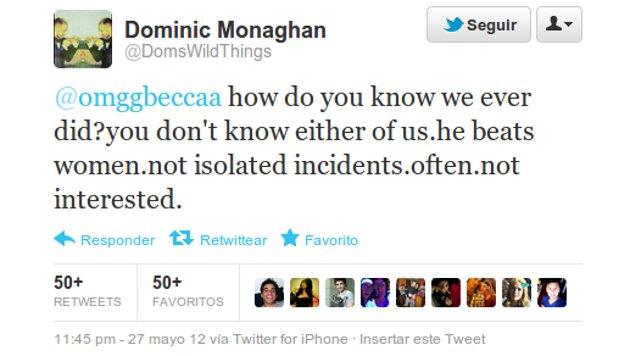 El tweet de Monaghan
