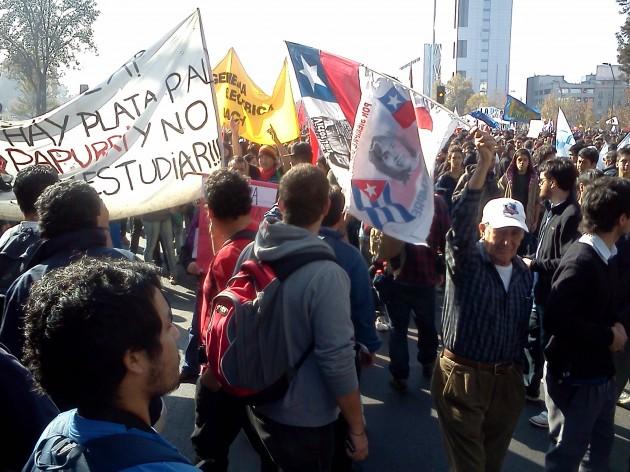 Marcha en Santiago   RBB
