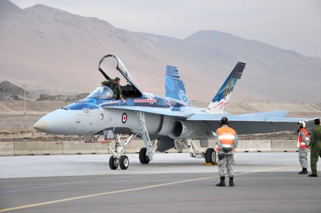 Aviones F-18 canadienses