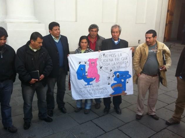 Manifestantes en La Moneda | Nestor Aburto (RBB)