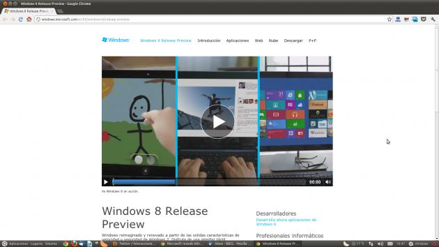 Sitio web oficial de Microsoft