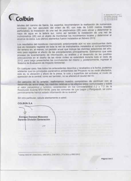 Carta de Colbún
