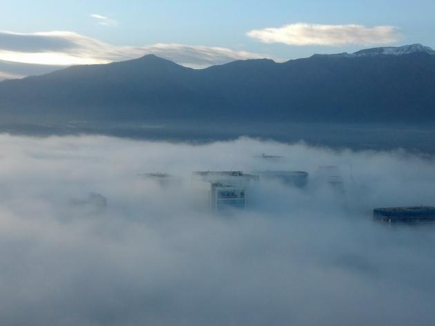 Neblina en Santiago | Roguer Caamaño