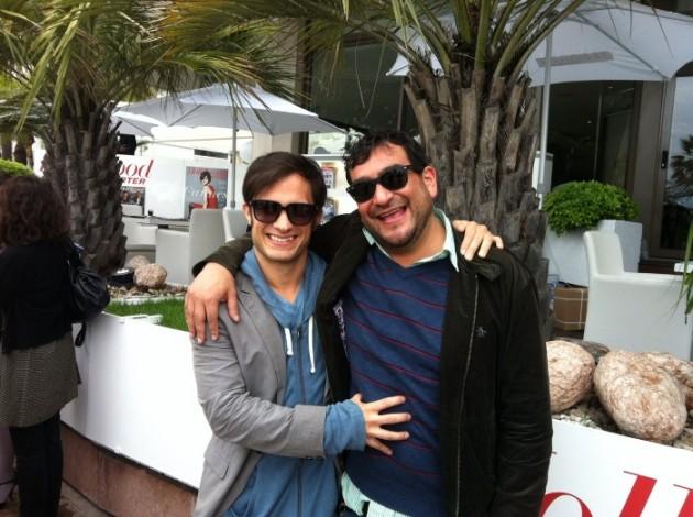 Gael Garcia Bernal y el guionista Pedro Peirano en Cannes | René Naranjo