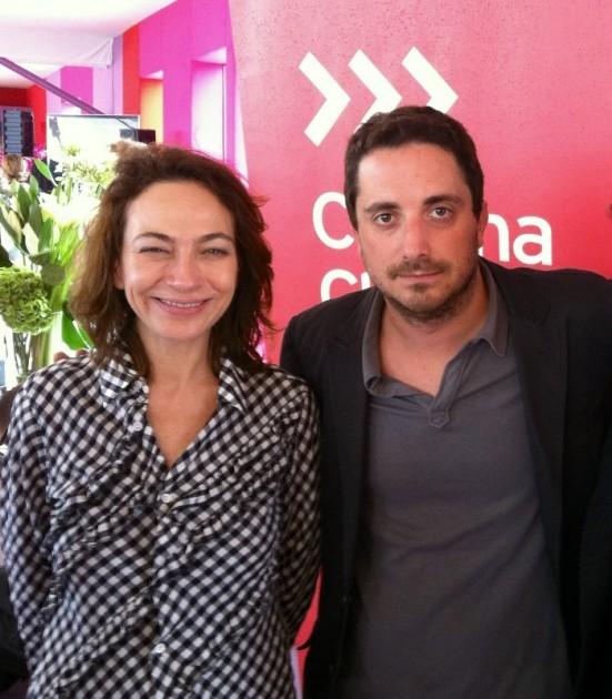 Pablo Larrain y Patricia Rivadeneira en Cannes 2012 | René Naranjo