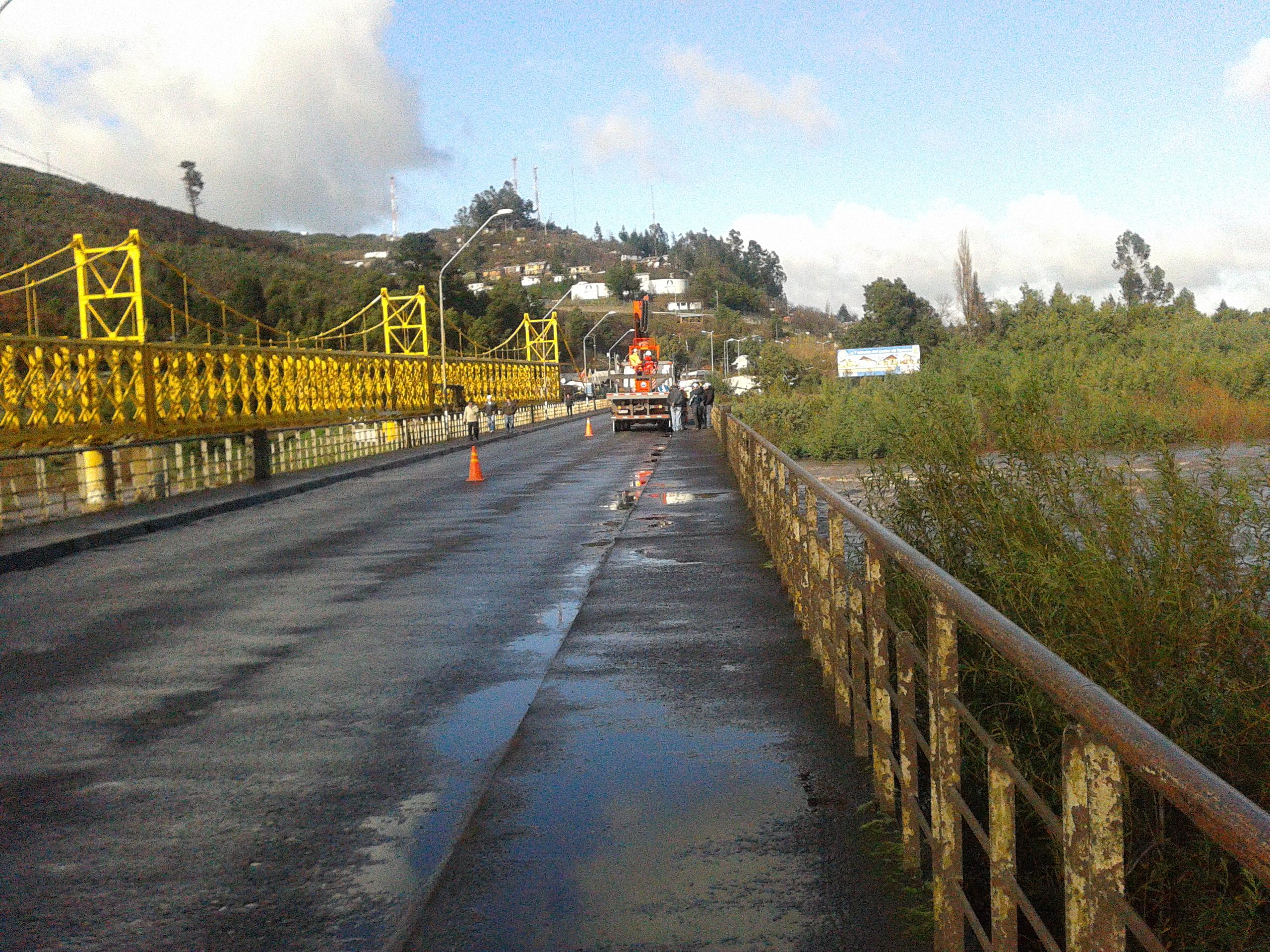 Puente que une a padre las casas con temuco ser cerrado este s bado - Exteriores puente viejo ...
