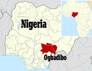 Mapa de Ogbadigo | Daily Mail