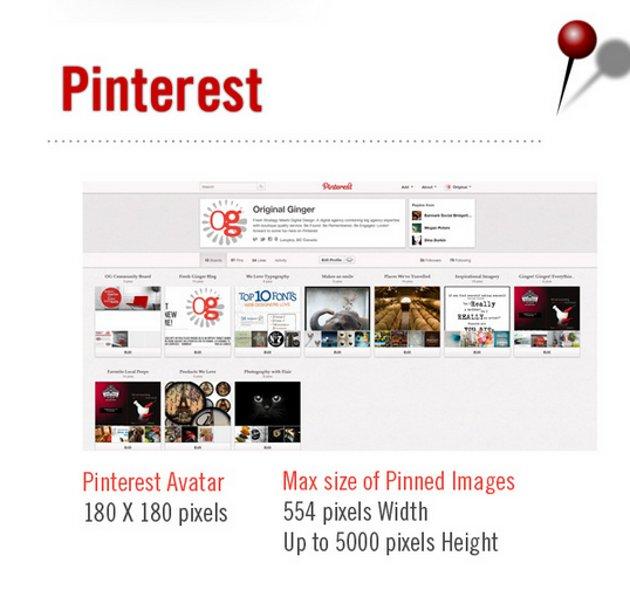Medidas para Pinterest | Fuente: Original Ginger