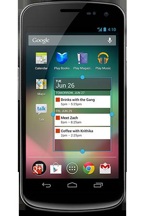 Pantalla de un Android | Android.com