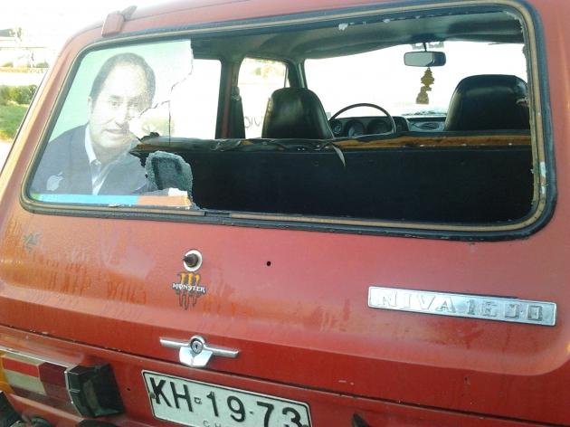 Ataque a auto en Hualpén | Carmen