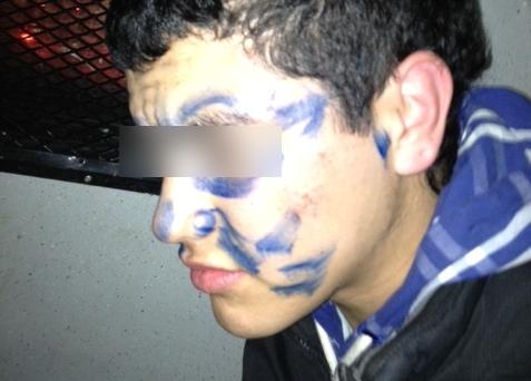 Joven atrapado rayando   Cortesía de la 7ª Compañía de Bomberos