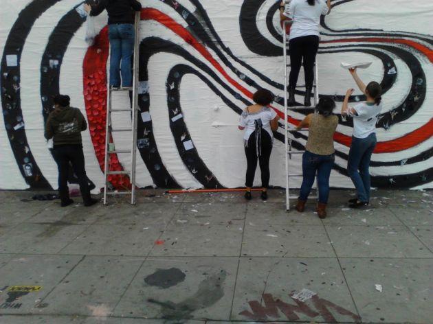Restauración del clásico mural | Punk Rock Marthas (c)