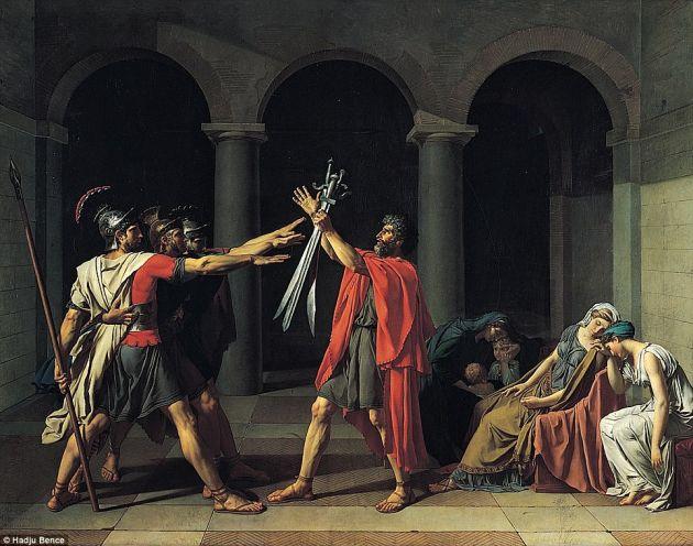 Juramento de los Horacios | Jacques-Louis David