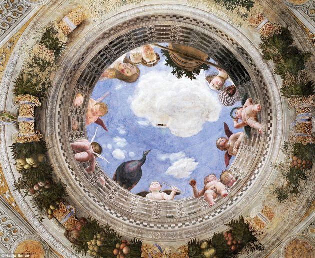 Techo de la Cámara de los esposos | Andrea Mantegna