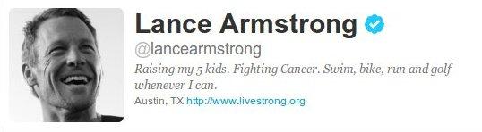 Lance Armstrong en Twitter