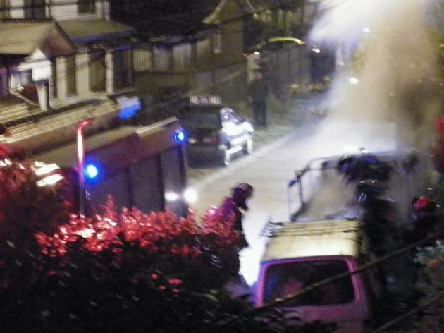 Incendio en camioneta | Samuel Bustos