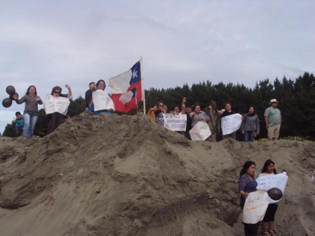 Manifestación por la defensa de Pangal, Maullín | Andrea Seron