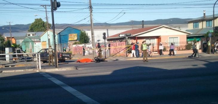 Accidente en Chiguayante | Cristobal Meneses (twitter)