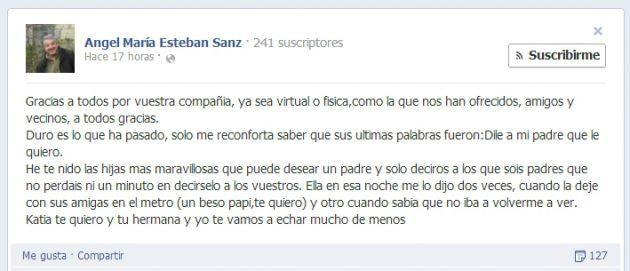 Ángel María Esteban Sanz en Facebook
