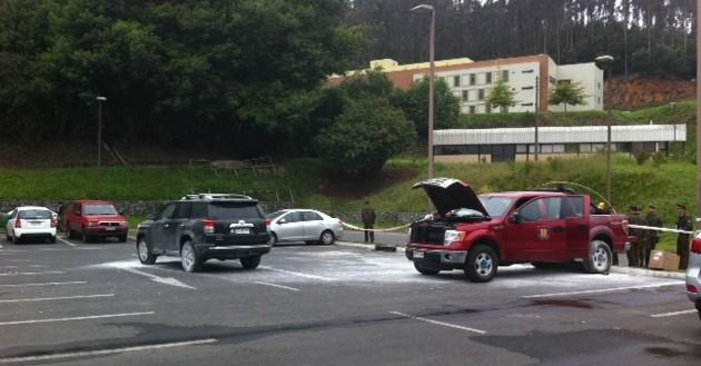 Dos de los vehículos afectados | Pedro Cid (RBB)