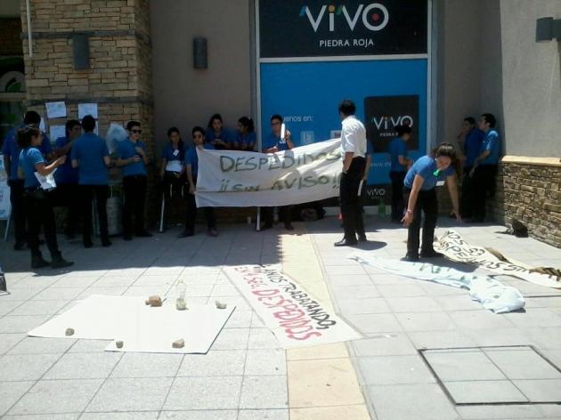 Protesta en Lider express de Piedra Roja | Macarena Lillo