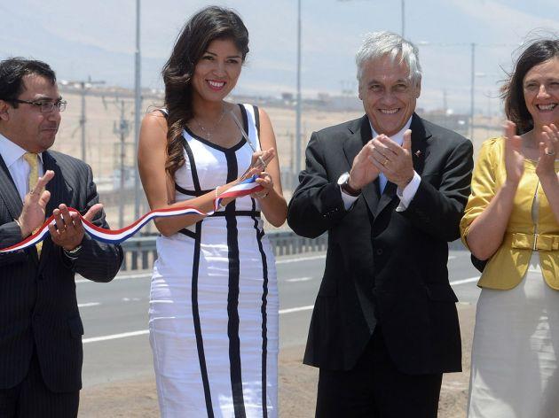 Alcaldesa Rojo y Presidente Piñera   Foto Presidencia