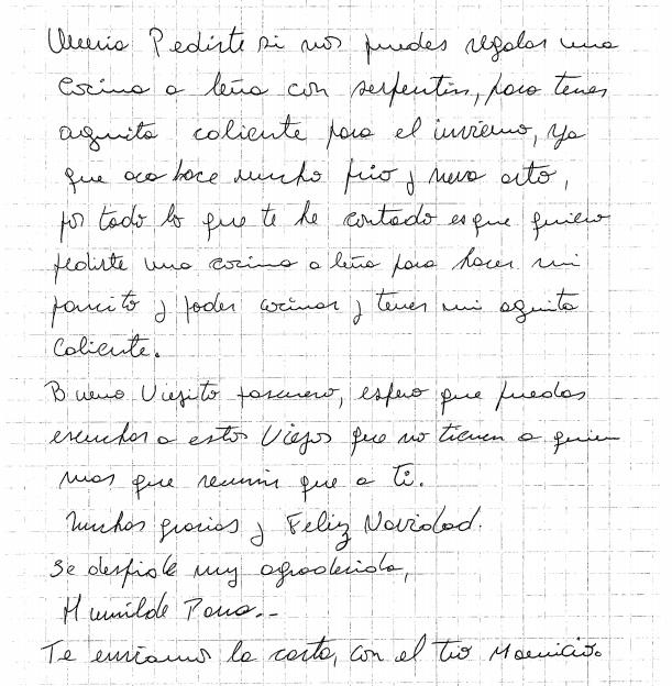 Carta de señora Humilde   Mauricio Alarcón