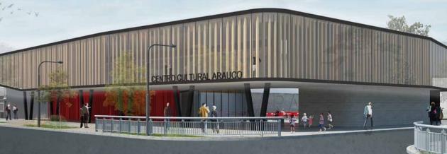 Así se vería el futuro Centro Cultural de Arauco