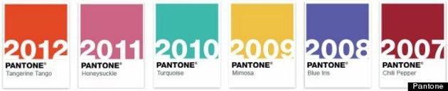 Colores de los últimos años | Pantone