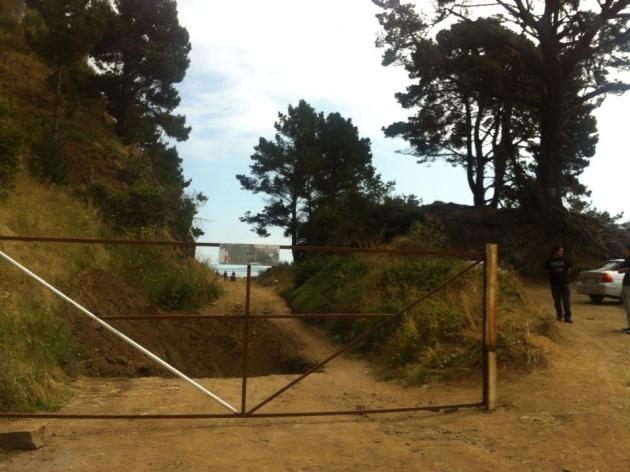Acceso bloqueado a playa punta de Parra | Jerson Vergara