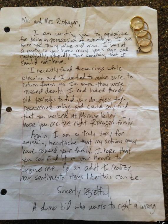 Carta del ladrón | Imgur