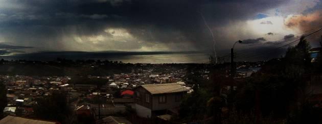 Tormenta eléctrica en Lota | @JairoPowplop