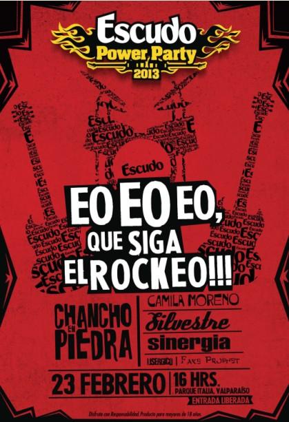 AFICHE ESCUDO POWER PARTY SINERGIA