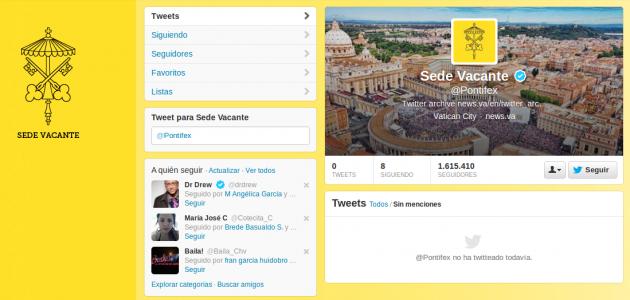 Cuenta oficial del Papa en Twitter