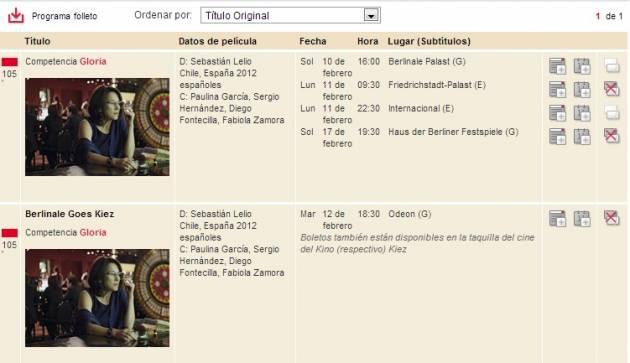 Gloria en Berlinale