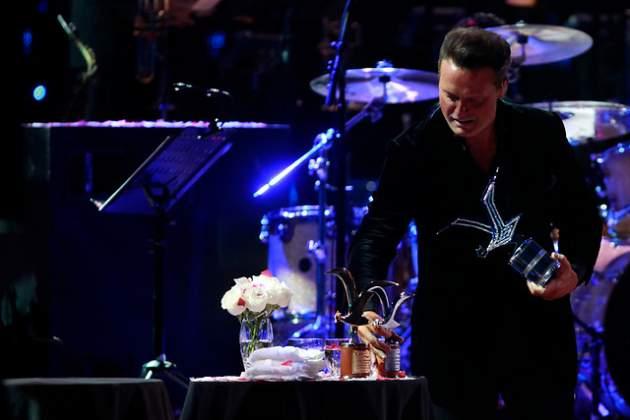 Luis Miguel con su Gaviota de Platino y otros premios | Nadia Pérez | Agencia UNO