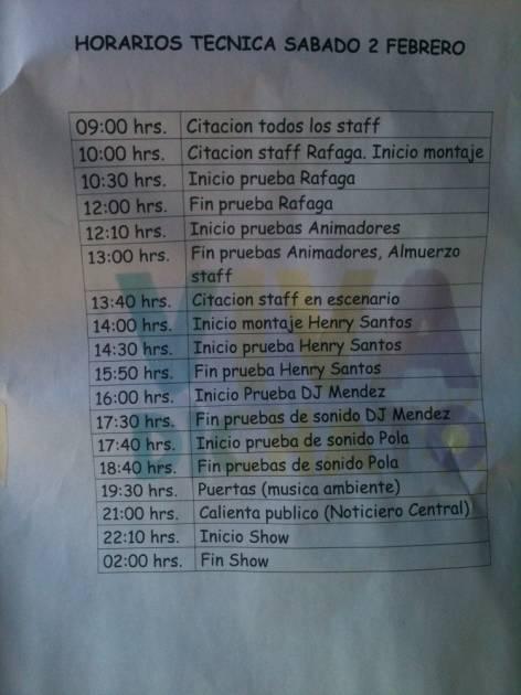 Programa primer día